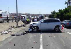 7 araç birbirine girdi Freni patladı, sonrası korkunç