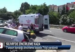 Silivri'de zincirleme kaza: 7 yaralı