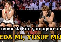 Survivorda şampiyon kim oldu Survivor şampiyonu Yusuf mu Seda mı oldu