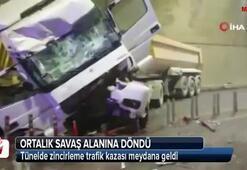 İstanbulda tünel içinde zincirleme kaza