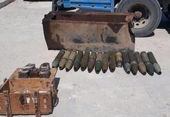 Terör örgütü YPG/PKKya ait füze ve patlayıcılar ele geçirildi