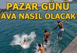 Pazar günü hava durumu nasıl olacak, yağış var mı 7 Temmuz İstanbul, Ankara, İzmir sıcaklıkları