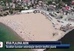 İstanbullular Riva plajına akın etti