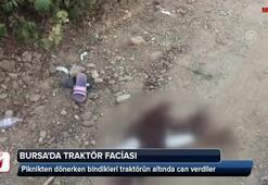 Bursada traktör kazası