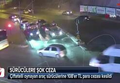 Kırmızı ışıkta çifte telli oynayan sürücülere şok ceza