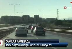 Trafik magandaları diğer sürücüleri tehlikeye attı