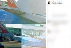 Hollandada iki uçak çarpıştı