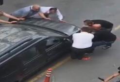 Böylesi hiç görülmedi Yanlış park edilen otomobile bunu yaptılar