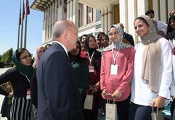 Cumhurbaşkanı Erdoğan, Amerikalı öğrencileri kabul etti