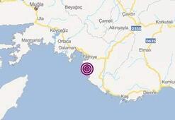 Son dakika | Fethiyede korkutan deprem