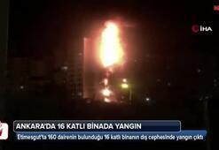 Ankarada 16 katlı binada yangın çıktı