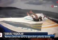 Marmara Denizi'nde ODTÜ'lü öğrencilerin yelkenlisi devrildi