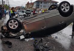 Kazayı gören yanına koştu Korkunç kaza