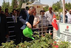 Adalet Bakanı Gül, şehit Ömer Halisdemirin kabrini ziyaret etti