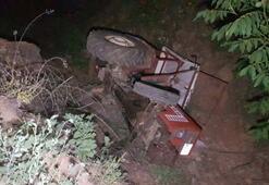 Çok acı olay Traktörün altında kalan baba ile kızı hayatını kaybetti