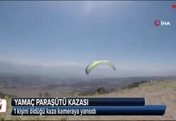 Yamaç paraşütü kazası amatör kamerada