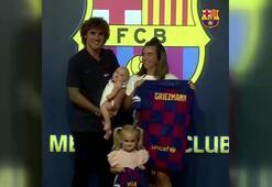 Griezmann ailesi Barcelonaya çabuk ısındı