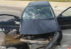 Sürücü uyuyunca olanlar oldu 8 kişi yaralandı