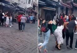 İstanbulda iki grup arasındaki kavga kamerada