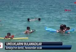 Antalyanın denizi, havasından sıcak