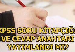 KPSS sınavları sona erdi KPSS sınav soru ve cevapları yayımlandı mı