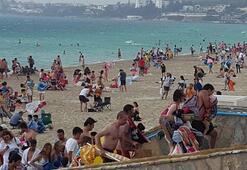 Plajda panik anları Bir anda ortaya çıktı, herkes böyle kaçtı