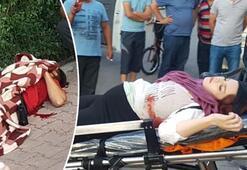 Hamile eş ve arkadaşına sokak ortasında kanlı infaz