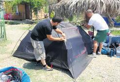 Kuzey Ege'de çadır  kamplarına ilgi arttı