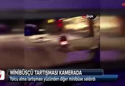 Eyüpsultan'da minibüsçü tartışması kamerada