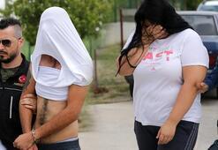 Adanada yakalandılar...  Oradan çıkanlar yüzlerini böyle gizledi