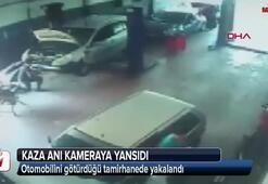 Aracını götürdüğü tamirhanede yakalandı
