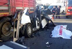 Ankarada korkunç kaza: TIRın altında kaldı