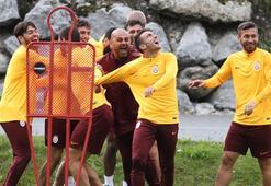 Galatasaray neşe dolu... Antrenmanda renkli görüntüler