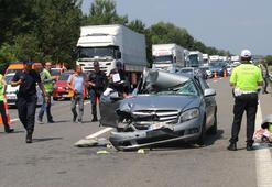 Düzcede feci kaza TIRa arkadan çarptı