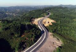 45 yıldır bitirilemeyen 36 km'lik duble yol hizmete açıldı