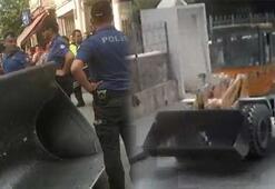 Kepçeyi ve polis memurunu kaçırdı Sebebini duyanlar şaştı kaldı