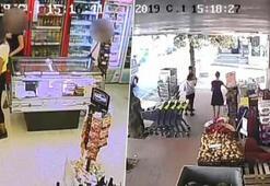 Hırsızlık yapıp markete giden genç kızlar kamerada