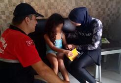 Jandarma buldu 6 yaşındaki kız çocuğu...