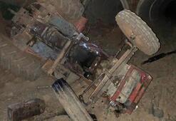 Devrilen traktörün sürücüsünden acı haber