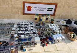 Son dakika... Suriye Babda 1 ton patlayıcı ele geçirildi