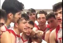 Genç Milli Erkek Basketbol takımından dikkat çeken kutlama