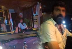 İstanbulda otobüs şoförü yolcunun üzerine yürüdü