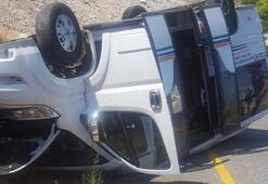 Yolcu minibüsü kaza yaptı Çok sayıda yaralı var