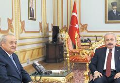 Şentop, Özbek bakanı kabul etti