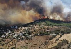 Turizm cennetinde yangın Köy sakinleri evlerini terk etti