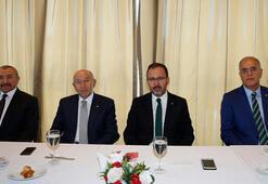 Bakan Kasapoğlu ve Başkan Özdemir, Sesi Görenlerin moral yemeğine katıldı