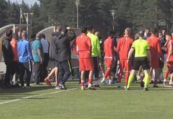 Gazişehirin hazırlık maçı yarıda kaldı