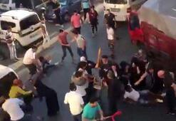 İstanbulun göbeğinde tekmeli tokatlı kavga