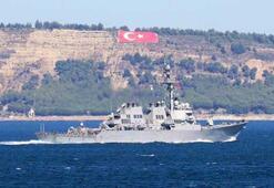 Amerikan savaş gemisi Çanakkale Boğazından geçti