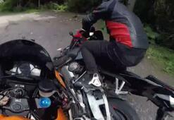 Sarıyer'de hız yapan motosikletliler çarpıştı